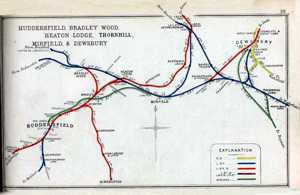 Mirfield Rail Map 1920
