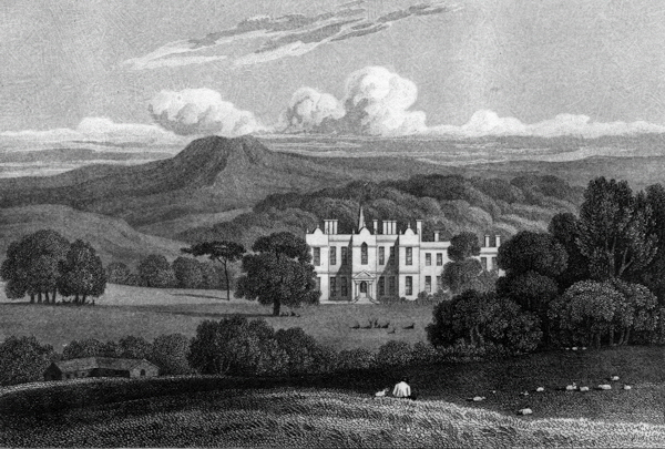 Kirklees Hall 19th century drawing.